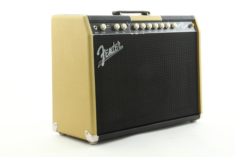 fender super sonic 22 fsr two tone gold and black w v30 sweetwater. Black Bedroom Furniture Sets. Home Design Ideas