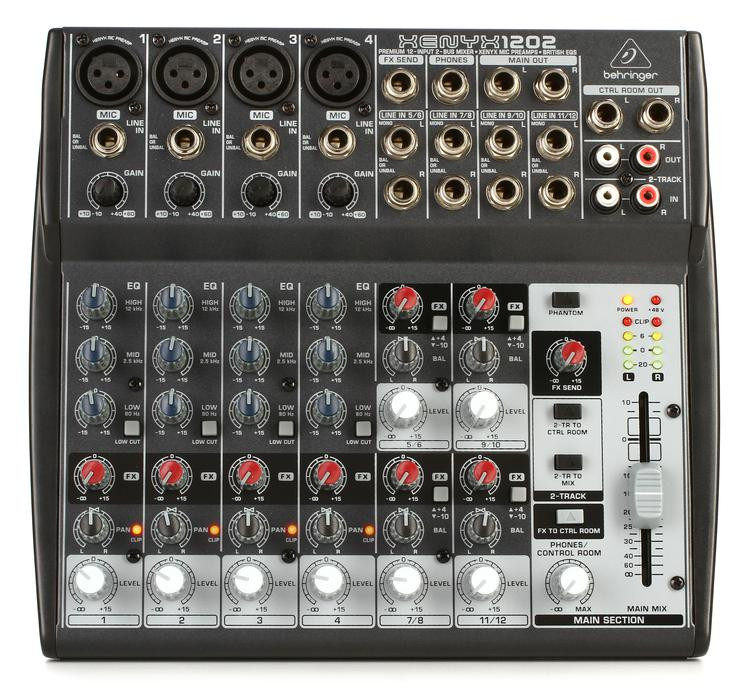 behringer xenyx 1202 mixer sweetwater. Black Bedroom Furniture Sets. Home Design Ideas