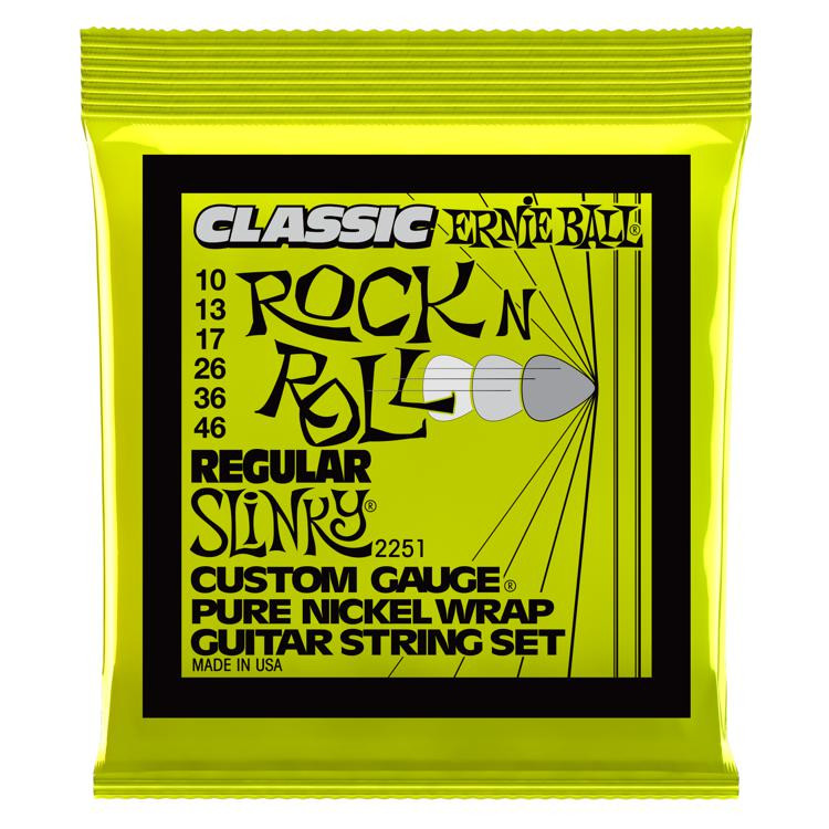Ernie Ball 2251 Classic Regular Slinky Pure Nickel Electric Strings image 1