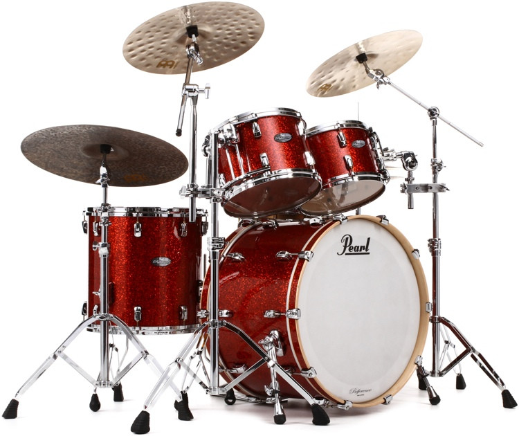 Pearl Music City Custom Reference Series Shell Pack - 4-piece - Burnt Orange Glass image 1