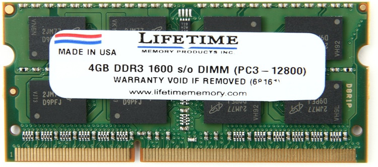 Top Tier PC3-12800 SO-DIMM - 4GB DDR3 1600MHz image 1
