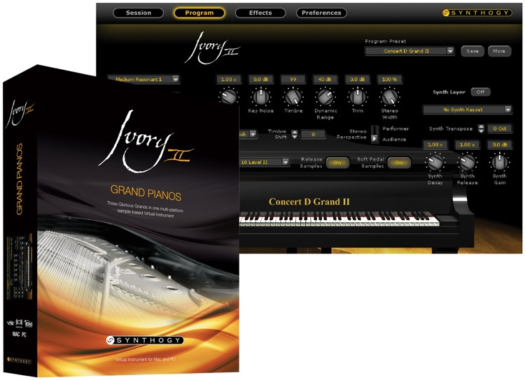Synthogy Ivory II Grand Pianos Upgrade from Version 1.x (download) image 1