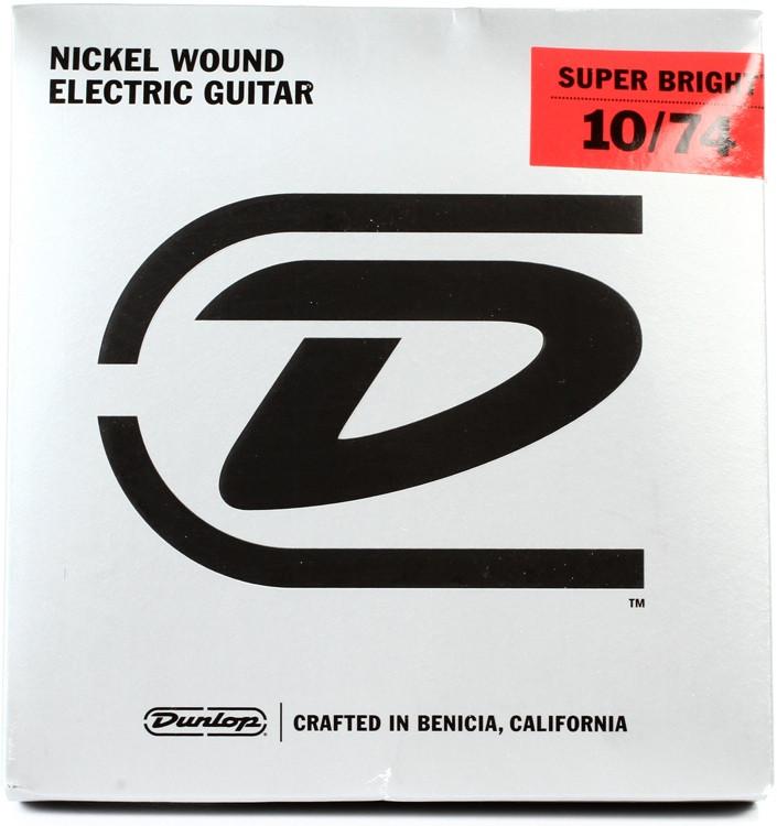 Dunlop Super Bright Electric Strings - .010-.074, Medium 8-String image 1
