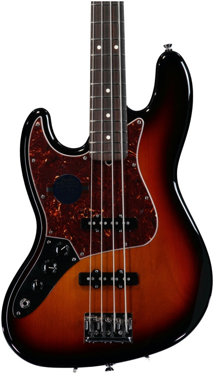 fender american standard jazz bass left handed 3 color sunburst with rosewood fingerboard. Black Bedroom Furniture Sets. Home Design Ideas