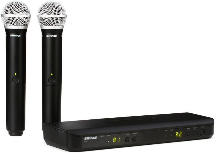 shure blx288 pg58 dual channel wireless handheld microphone system j10 band sweetwater. Black Bedroom Furniture Sets. Home Design Ideas