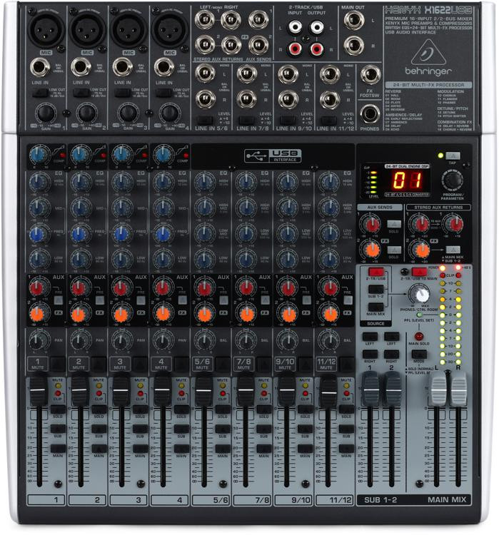 Behringer Xenyx X1622USB Mixer and USB Audio Interface with Effects image 1