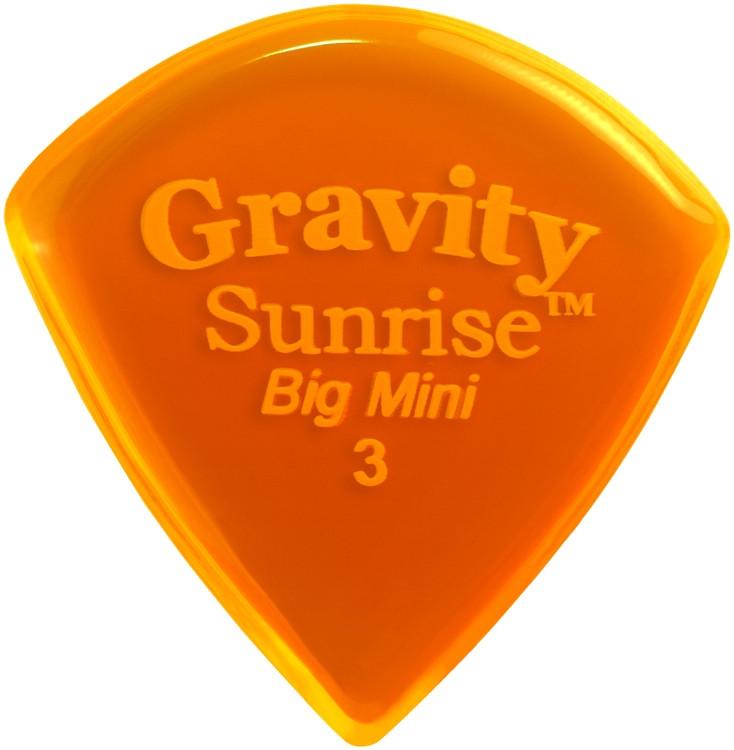 Gravity Picks Sunrise - Big Mini, 3mm, Polished image 1