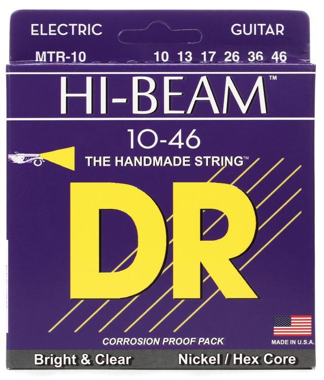 DR Strings MTR-10 Hi-Beam Nickel Plated Medium Electric Strings image 1