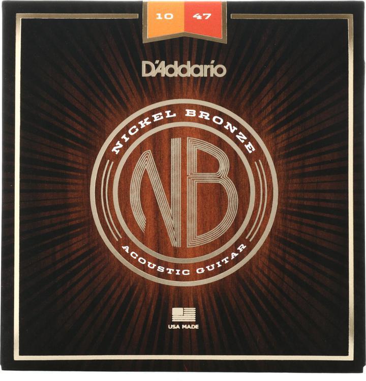 D\'Addario NB1047 Nickel Bronze Acoustic Strings .010-.047 Extra-light image 1
