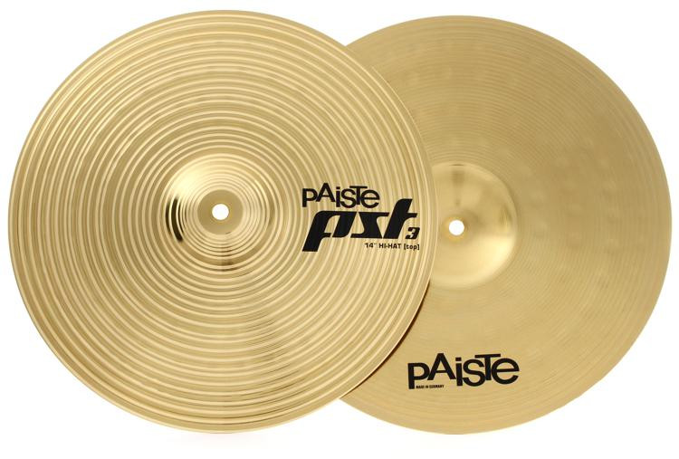 paiste 14 pst 3 hi hat cymbals sweetwater. Black Bedroom Furniture Sets. Home Design Ideas