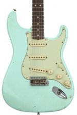 Fender Custom Shop 1963 Stratocaster Journeyman Relic - Faded Sonic Surf Green