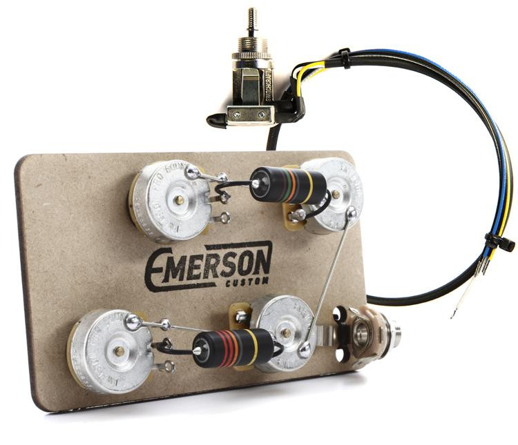 Emerson Les Paul Wiring Harness : Emerson custom prewired kit for les paul guitars long