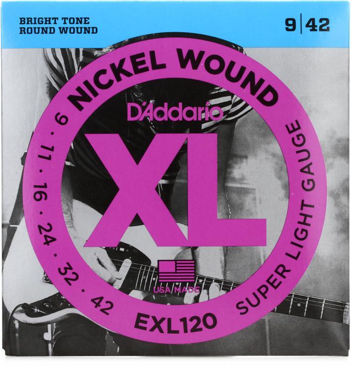 D\'Addario EXL120 Nickel Wound Super Light Electric Strings image 1