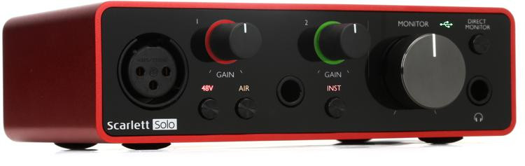 focusrite scarlett solo 3rd gen usb audio interface sweetwater. Black Bedroom Furniture Sets. Home Design Ideas