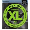 D'Addario ProSteel EPS300-5 Light Top Medium Bottom Super Bright 5-String Bass Strings