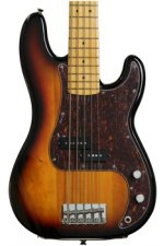 Squier Vintage Modified P Bass V - 3-Color Sunburst