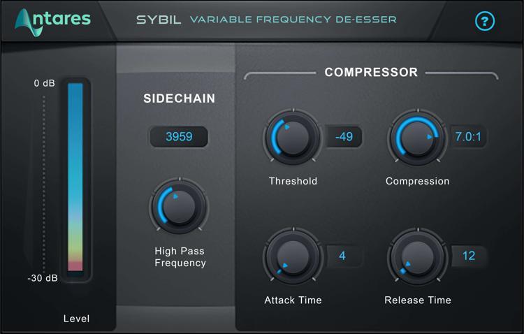 Antares SYBIL Evo Vocal De-esser Plug-in image 1