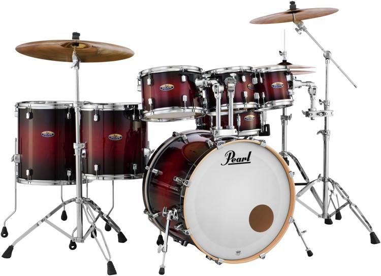 Pearl Decade Maple Shell Pack - 7pc - Redburst image 1