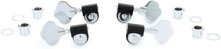Grover 143 Lightweight Bass Tuning Machines - 2+2 - Chrome image 1