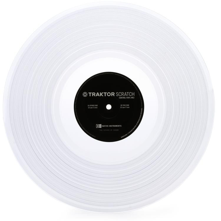 Native Instruments Traktor Scratch Control Vinyl MK2 - Clear (Single Vinyl) image 1