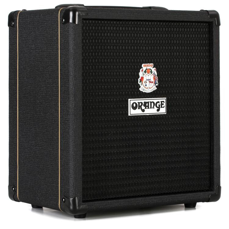 orange crush bass 25 1x8 25w bass combo black sweetwater. Black Bedroom Furniture Sets. Home Design Ideas