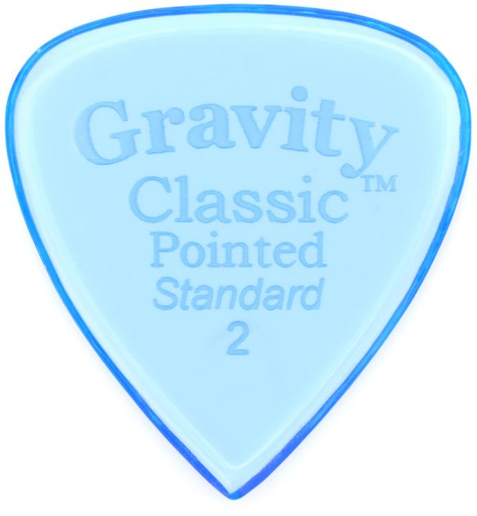 Gravity Picks Classic Pointed - Standard Size, 2mm, Polished image 1