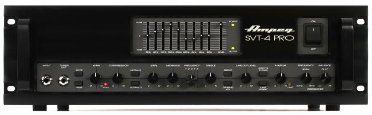 Ampeg SVT-4PRO 1200-Watt Tube Preamp Bass Head image 1
