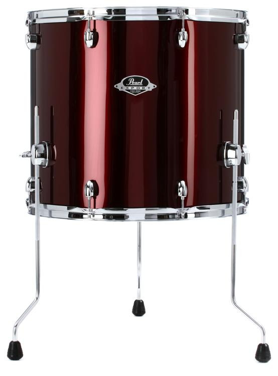 pearl export exx floor tom 18 x 16 burgundy sweetwater. Black Bedroom Furniture Sets. Home Design Ideas