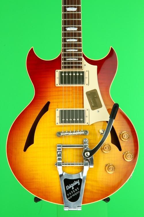Gibson Custom Johnny A. Standard Bigsby - Bourbon Burst (top)
