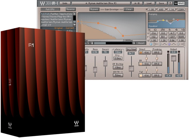 Waves IR-1 Plug-in for Academic Institutions image 1