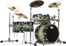 DW Collector's Exotic Shell Pack - 5-pc - Natural to Royal Burst Over Quilted Maple