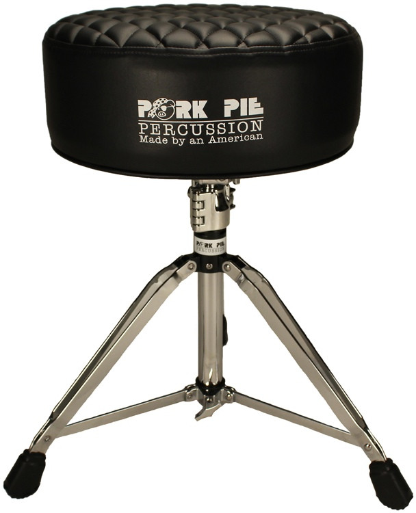 pork pie percussion deuce series round drum throne black diamond tuck sweetwater. Black Bedroom Furniture Sets. Home Design Ideas