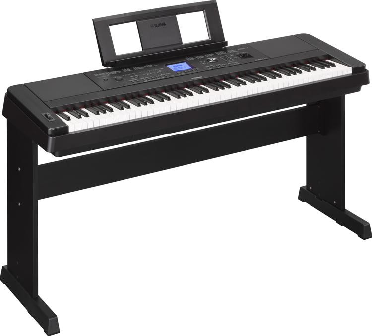yamaha dgx 660 88 key arranger piano with stand black. Black Bedroom Furniture Sets. Home Design Ideas