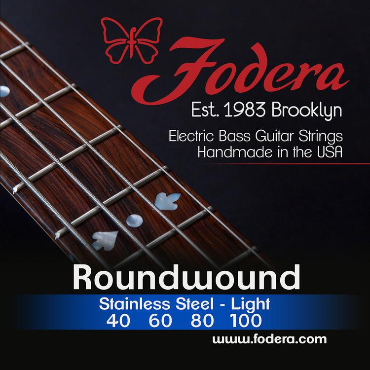 Fodera 40100 Stainless Steel Roundwound Bass Strings - 0.040-0.100 Light image 1