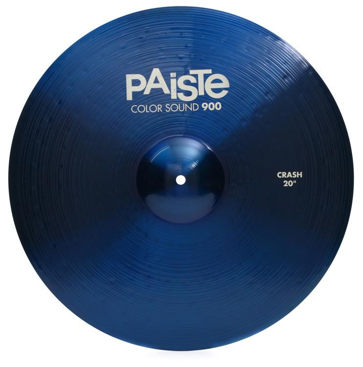 paiste color sound 900 crash cymbal 20 blue sweetwater. Black Bedroom Furniture Sets. Home Design Ideas
