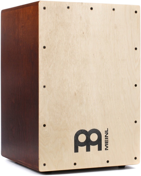 Meinl Percussion Headliner Series Snare Cajon - Dark Brown with Natural Faceplate image 1