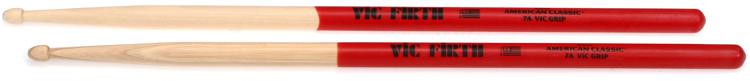 Vic Firth American Classic Drumsticks With Vic Grip - 7A - Wood Tip image 1