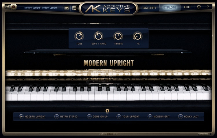 XLN Audio Addictive Keys Modern Upright image 1
