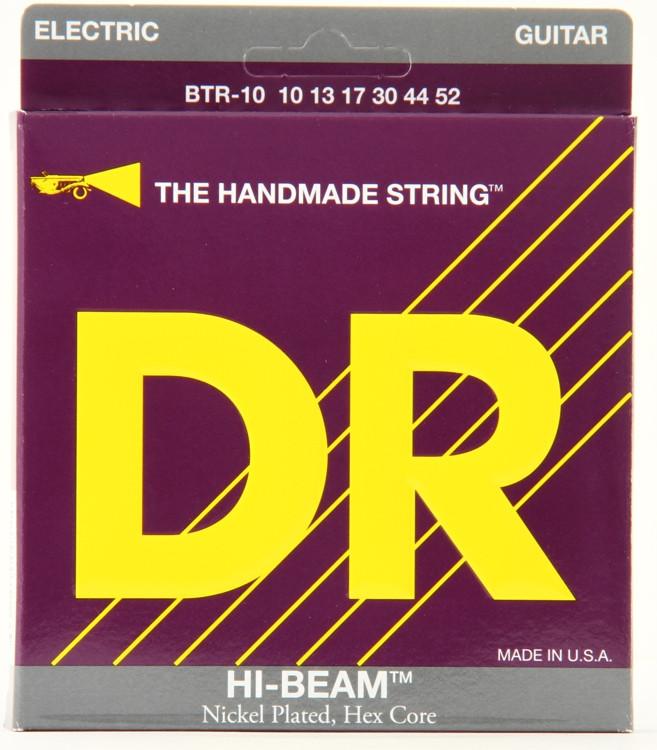 DR Strings BTR-10 Hi-Beam Nickel Plated Big & Heavy Electric Strings image 1