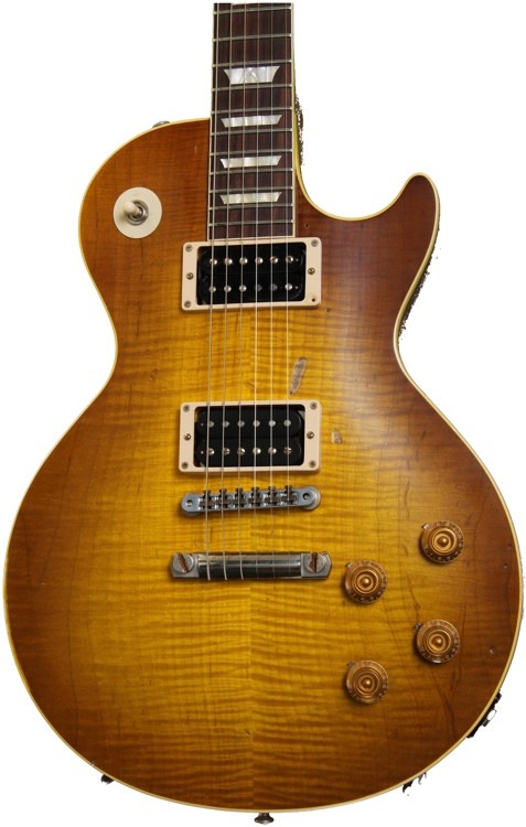gibson custom duane allman cherry sunburst 39 59 les paul washed cherry aged sweetwater. Black Bedroom Furniture Sets. Home Design Ideas