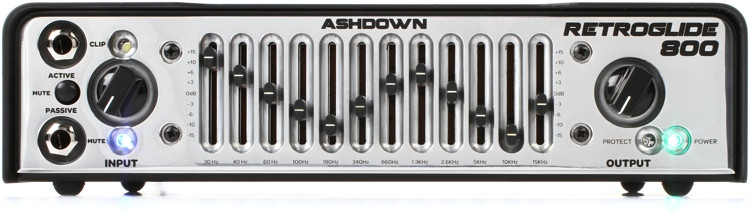 Ashdown Retroglide-800 800-Watt Lightweight Bass Head with 12-Band Graphic EQ image 1