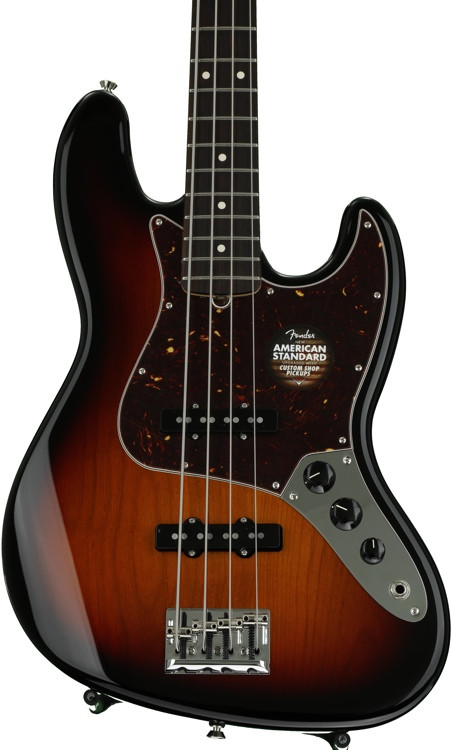 fender american standard jazz bass 3 color sunburst rosewood fingerboard sweetwater. Black Bedroom Furniture Sets. Home Design Ideas