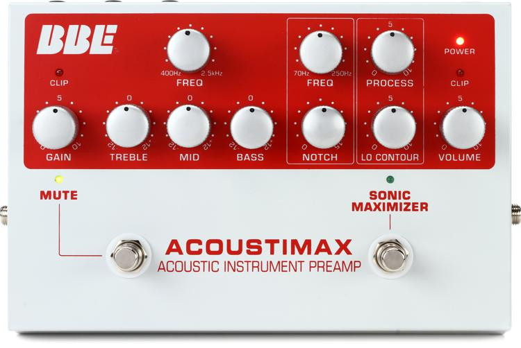 BBE Acoustimax Acoustic Instrument Preamp Pedal image 1