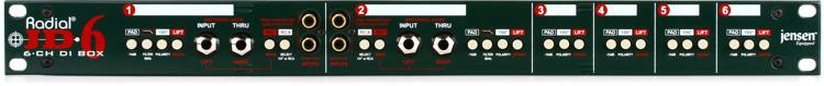 Radial JD6 6-channel Passive Instrument Direct Box image 1