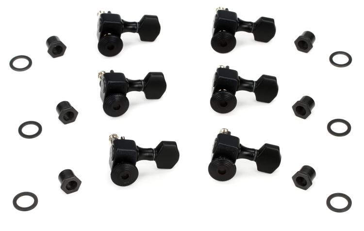 Sperzel 6LTLCP Trim-Lok Satin Black Tuning Machine Heads image 1