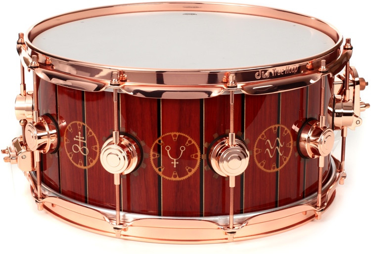 DW Collector\'s Series Icon Snare Drum - Neil Peart Time Machine image 1