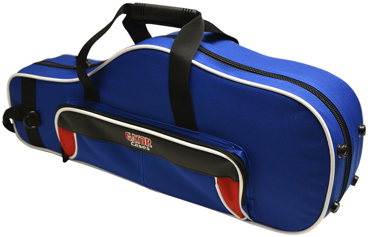 Gator GL-ALTOSAX-RB - Lightweight Alto Sax Case, Red & Blue image 1