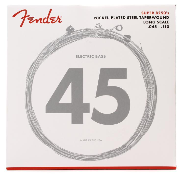 Fender 8250M Nickel Plated Steel Taperwound Medium Bass Strings image 1