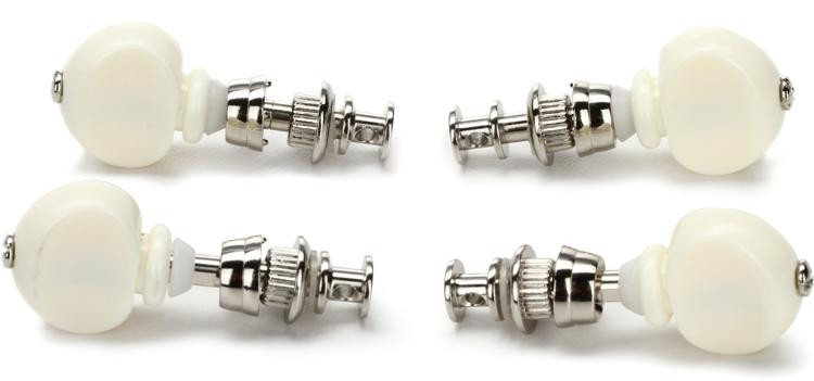 Grover 6W Ukulele Pegs (Set of 4) - White Buttons image 1