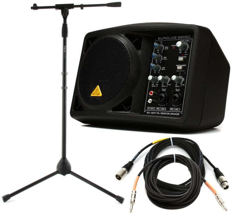 Behringer B205D Compact Monitor with Stand and Cables image 1